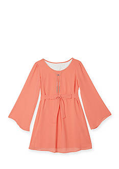 Amy Byer Bell Sleeve Chiffon Dress Girls Plus