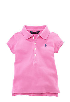 Ralph Lauren Childrenswear Mesh Polo with Pony Player Girls 4-6X