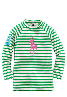 Ralph Lauren Childrenswear Striped Rash Guard Girls 4-6X