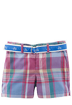 Ralph Lauren Childrenswear Preppy Madras Bermuda Short Girls 4-6X