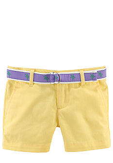 Ralph Lauren Childrenswear Preppy Chino Short Girls 4-6x