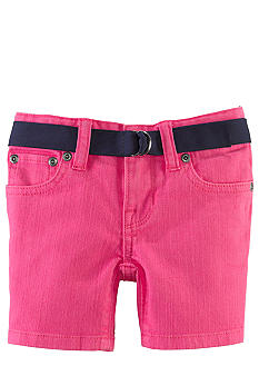 Ralph Lauren Childrenswear Neon Denim Short Girls 4-6X