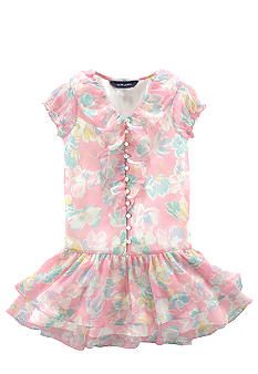 Ralph Lauren Childrenswear Floral Chiffon Dress Girls 4-6X