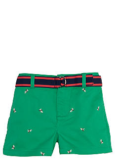Ralph Lauren Childrenswear Embroidered Chino Short Girls 4-6X