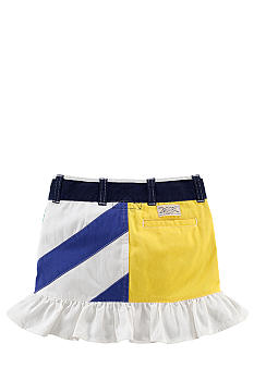 Ralph Lauren Childrenswear Pieced Ruffle Miniskirt Girls 4-6X