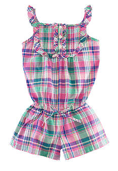Ralph Lauren Childrenswear Madras Romper Girls 4-6X