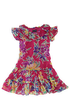 Ralph Lauren Childrenswear Floral Print Chiffon Dress Girls 4-6X