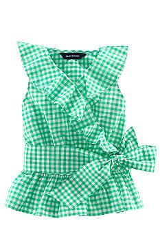 Ralph Lauren Childrenswear Gingham Ruffle Top Girls 4-6X