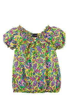 Ralph Lauren Childrenswear Paisley Print Blouse Girls 4-6x
