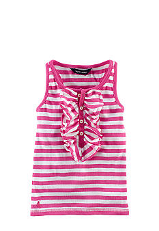Ralph Lauren Childrenswear Ruffle Front Striped Tank Girls 4-6X
