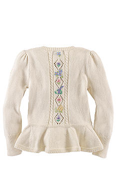 Ralph Lauren Childrenswear Floral Embroidered Cardigan Girls 4-6X