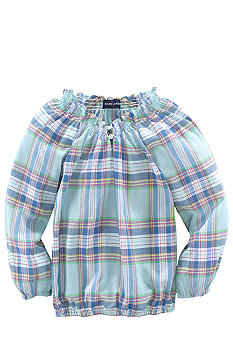 Ralph Lauren Childrenswear Smocked Boatneck Top Girls 4-6X