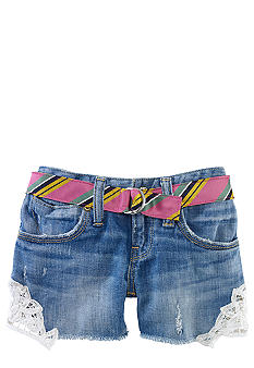 Ralph Lauren Childrenswear Lace Applique Denim Short Girls 4-6X