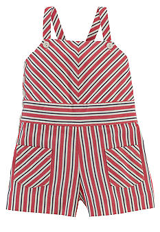 Ralph Lauren Childrenswear Stripe Romper Girls 4-6X