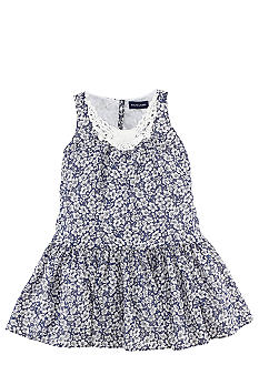 Ralph Lauren Childrenswear Crochet Trim Floral Dress Girls 4-6X