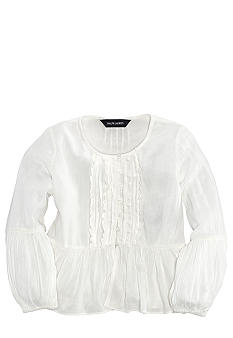 Ralph Lauren Childrenswear Crinkle Peplum Top Girls 4-6X