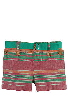 Ralph Lauren Childrenswear Nautical Linen Shorts Girls 4-6X