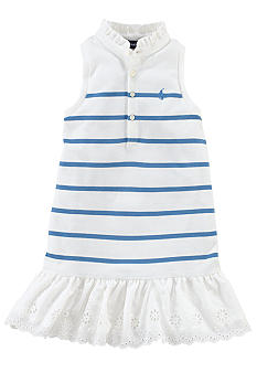 Ralph Lauren Childrenswear Preppy Stripe Polo Dress Girls 4-6X