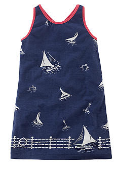 Ralph Lauren Childrenswear Sailboat Print Tank Dress Girls 4-6X