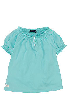 Ralph Lauren Childrenswear Smocked Peasant Top Girls 4-6X
