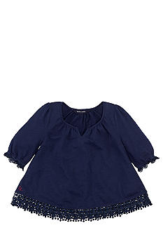 Ralph Lauren Childrenswear Crochet Trim Top Girls 4-6X