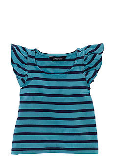 Ralph Lauren Childrenswear Stripe Flutter Sleeve Top Girls 4-6X