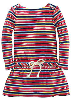 Ralph Lauren Childrenswear Boatneck Striped Dress Girls 4-6X