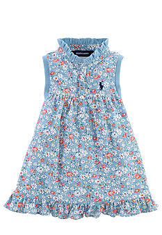 Ralph Lauren Childrenswear Floral Print Ruffle Shirt Girls 4-6X