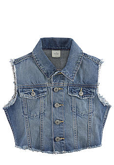 Ralph Lauren Childrenswear Western Denim Vest Girls 4-6X