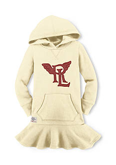 Ralph Lauren Childrenswear RL Patch Hooded Fleece Dress Girls 4-6x