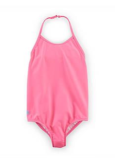 Ralph Lauren Childrenswear Halter Swimsuit Girls 4-6x