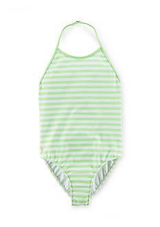 Ralph Lauren Childrenswear Stripe Halter Swimsuit Girls 4-6x
