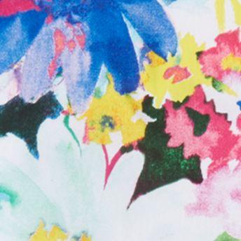 Ralph Lauren Girls: Turquiose/Pink Ralph Lauren Childrenswear 1 FLORAL DRESS-WVN PINK/WHITE MULTI