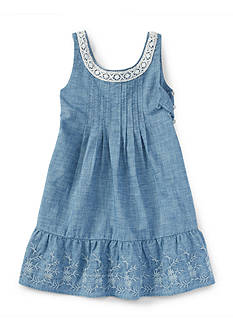 Ralph Lauren Childrenswear Chambray Dress Girls 4-6x