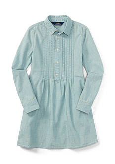 Ralph Lauren Childrenswear Chambray Shirt Dress Girls 4-6x