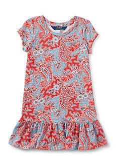 Ralph Lauren Childrenswear Jersey Paisley Dress Girls 4-6x