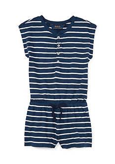 Ralph Lauren Childrenswear Jersey Stripe One Piece Romper Toddler Girl