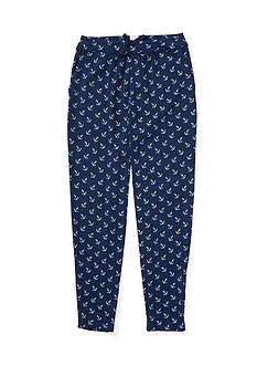 Ralph Lauren Childrenswear Washed Jersey Anchor Pants Girls 4-6x