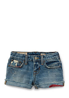 Ralph Lauren Childrenswear Denim Piper Wash Shorts Girls 4-6x