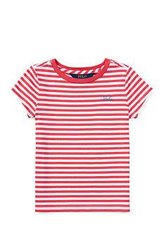 Ralph Lauren Childrenswear Short Sleeve Stripe Top Girls 4-6x
