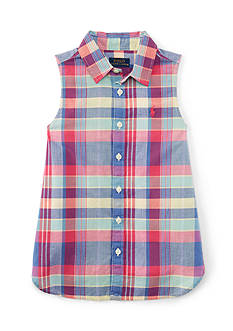 Ralph Lauren Childrenswear Madras Top Girls 4-6x