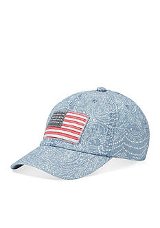 Ralph Lauren Childrenswear Chambray Flag Hat Girls 4-6x