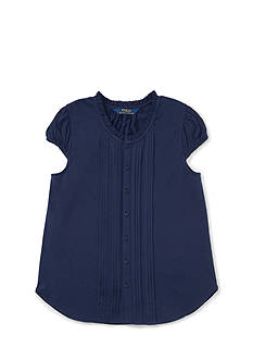 Ralph Lauren Childrenswear Jersey Pintuck Shirt Girls 4-6x