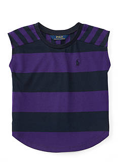 Ralph Lauren Childrenswear Striped Jersey College Tee Girls 4-6x