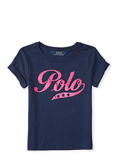 Ralph Lauren Childrenswear Jersey Polo T-Shirt - Girls 4-6x