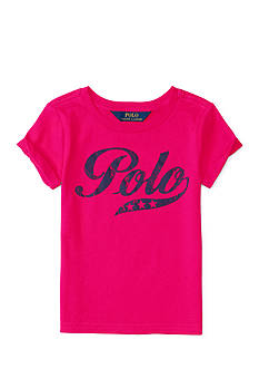 Ralph Lauren Childrenswear Jersey Polo T-Shirt Girls 4-6x