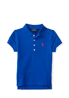 Ralph Lauren Childrenswear Stretch Mesh Polo - Girls 4-6x