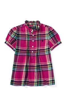 Ralph Lauren Childrenswear Featherweight Twill Plaid Shirt - Girls 4-6x