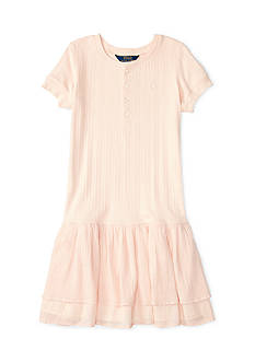 Ralph Lauren Childrenswear Woven Henley Dress Girls 4-6x