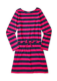 Ralph Lauren Childrenswear Jersey Stripe Dress - Girls 4-6x